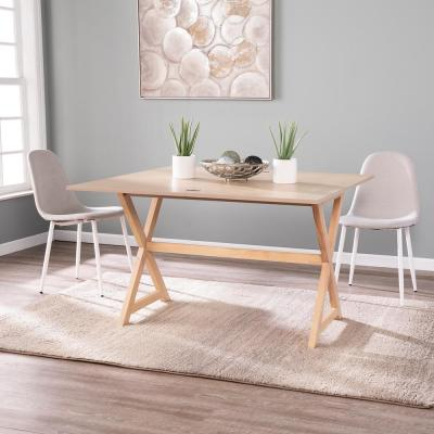 Seritia Washed Brown Oak Convertible Console to Dining Table