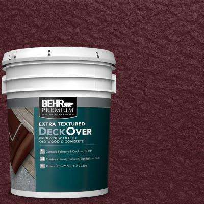 5 gal. #SC-106 Bordeaux Extra Textured Wood and Concrete Coating
