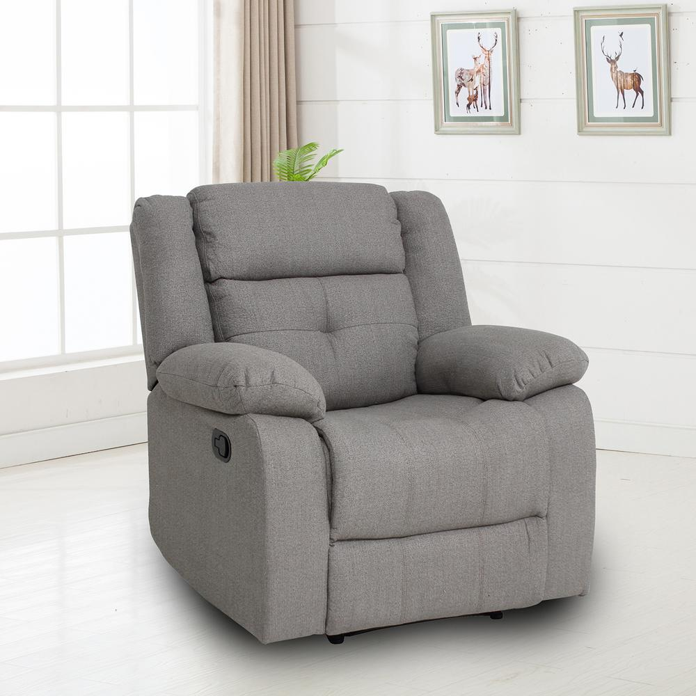 Home Furnishings Ebello Home Furnishings Eastgate Chocolate Fabric Recliner M1031mr