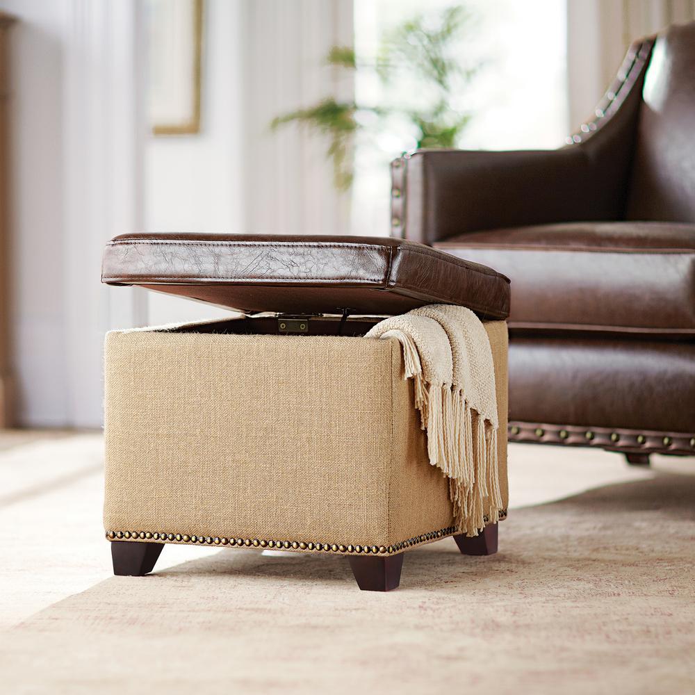 Sensational Home Decorators Collection Ethan Brown Storage Ottoman Ncnpc Chair Design For Home Ncnpcorg
