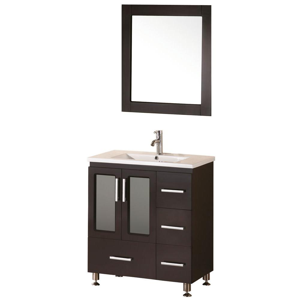 Design Element Stanton 32 in. W x 18 in. D Vanity in Espresso with ...