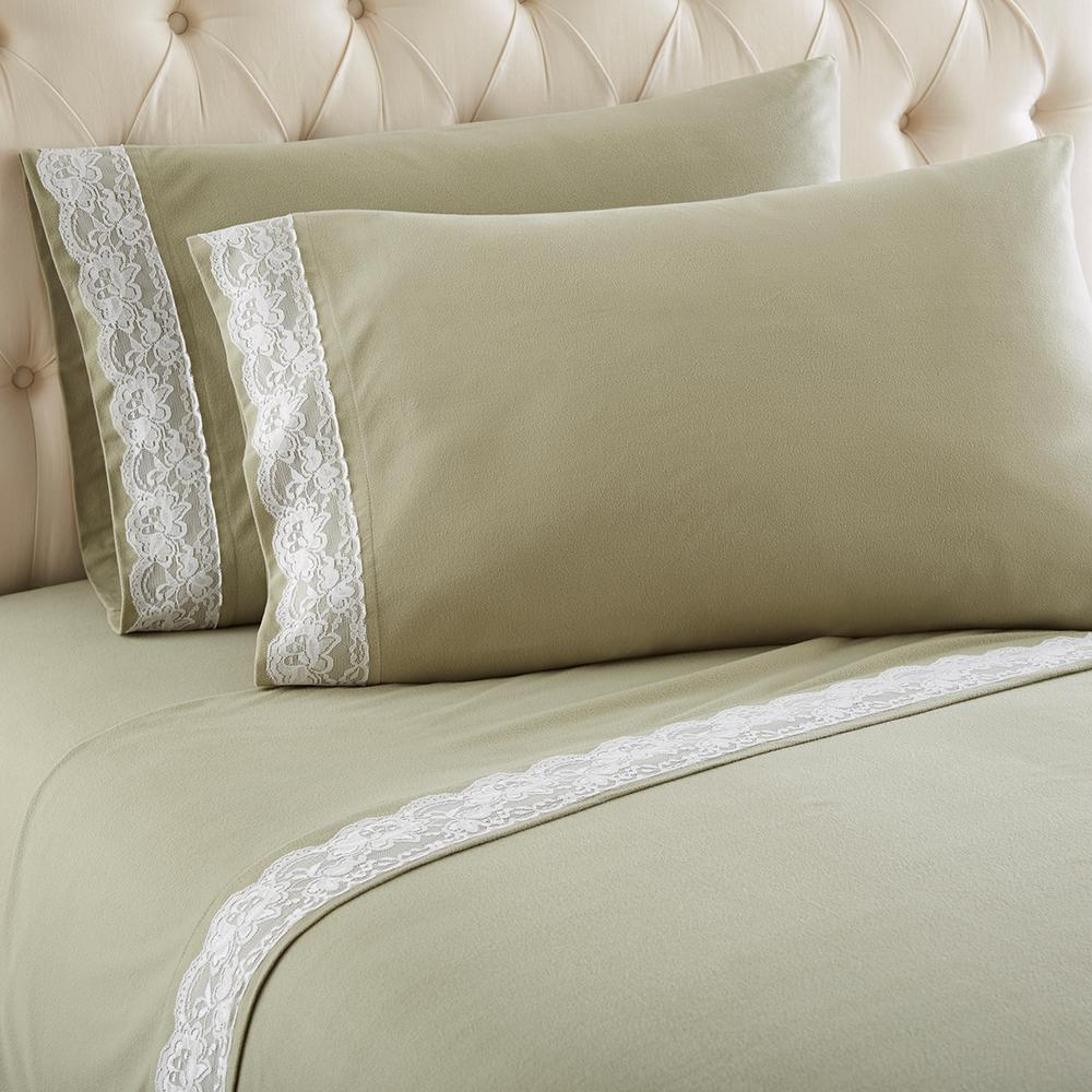 King Meadow Lace Edged Sheet Set