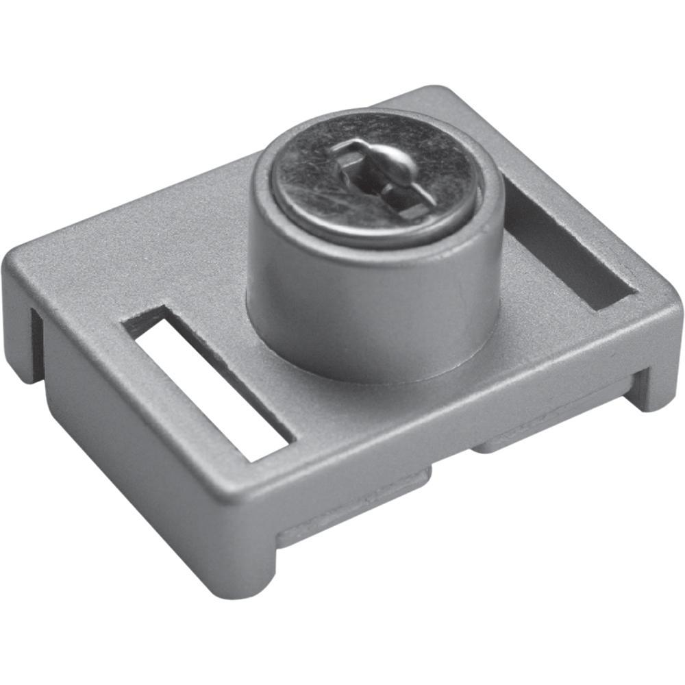 1-23/32 in. Aluminum, Keyed Sliding Window Lock