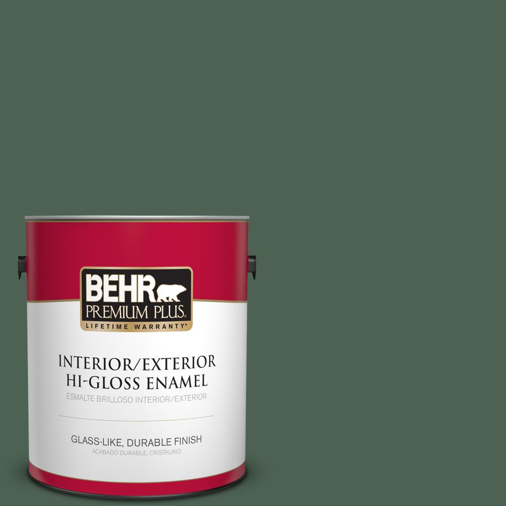 1 gal. #PPU11-20 Congo Hi-Gloss Enamel Interior/Exterior Paint