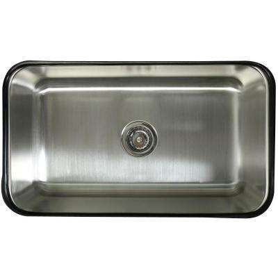 Undermount Stainless Steel 30 in. 0-Hole Single Bowl Kitchen Sink in Satin