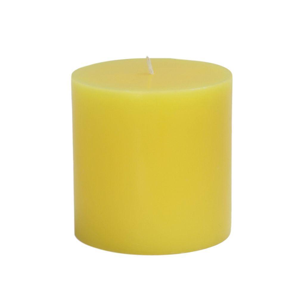 Zest Candle 3 In X Yellow Pillar Candles Bulk 12