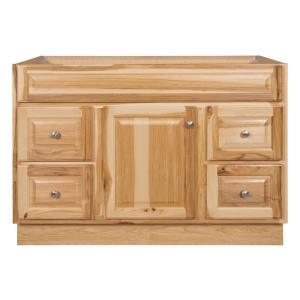 Hampton 48 in. W x 21 in. D x 33.5 in. H Bathroom Vanity Cabinet Only in Hickory