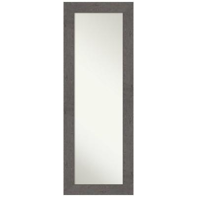 Large Rectangle Distressed Grey Modern Mirror (53.38 in. H x 19.38 in. W)