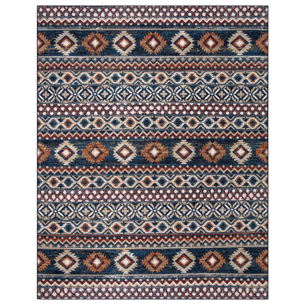 StyleWell Rosalynn Navy/Multi-Color 8 ft. x 10 ft. Global Low Pile Area Rug, Navy / Multi-Color was $138.26 now $82.96 (40.0% off)