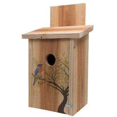 Decorative Bird in Tree Cedar Blue Bird House