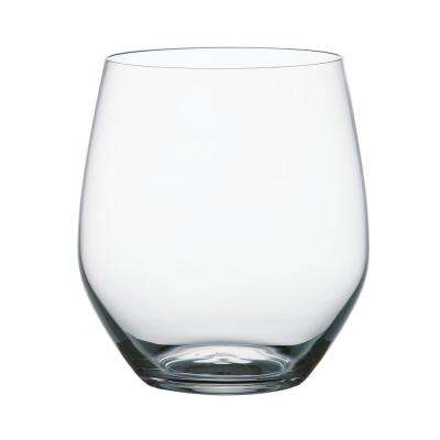Vivendi 19.4 oz. Clear Crystal Glass Stemless Wine Tumblers (4-Pack)