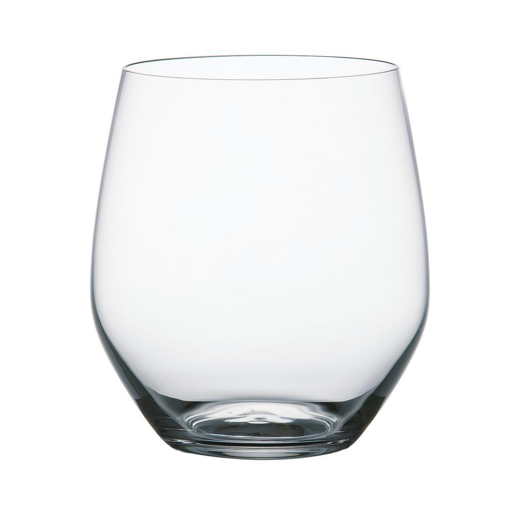 Vivendi 19.4 oz. Clear Crystal Glass Stemless Wine Tumblers (4-Pack)