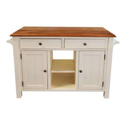 Atlantic White Kitchen Island