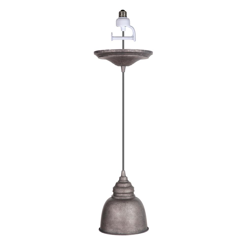 Worth Home Products Instant Pendant 1-Light Antique Rust Recessed Light Conversion Kit with Metal Shade