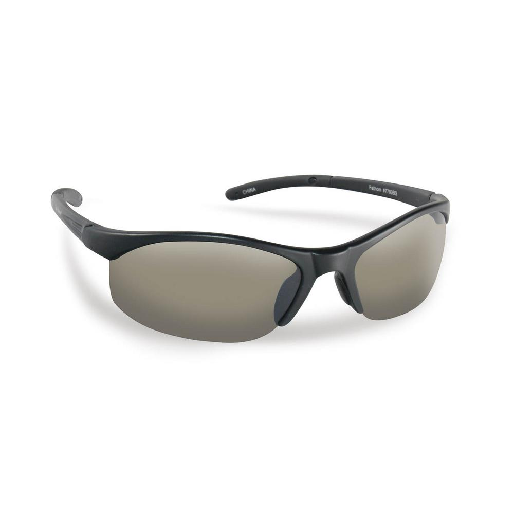 67c6b9cf04c Flying Fisherman Bristol Polarized Sunglasses in Black Frame with Smoke  Lens-7793BS - The Home Depot