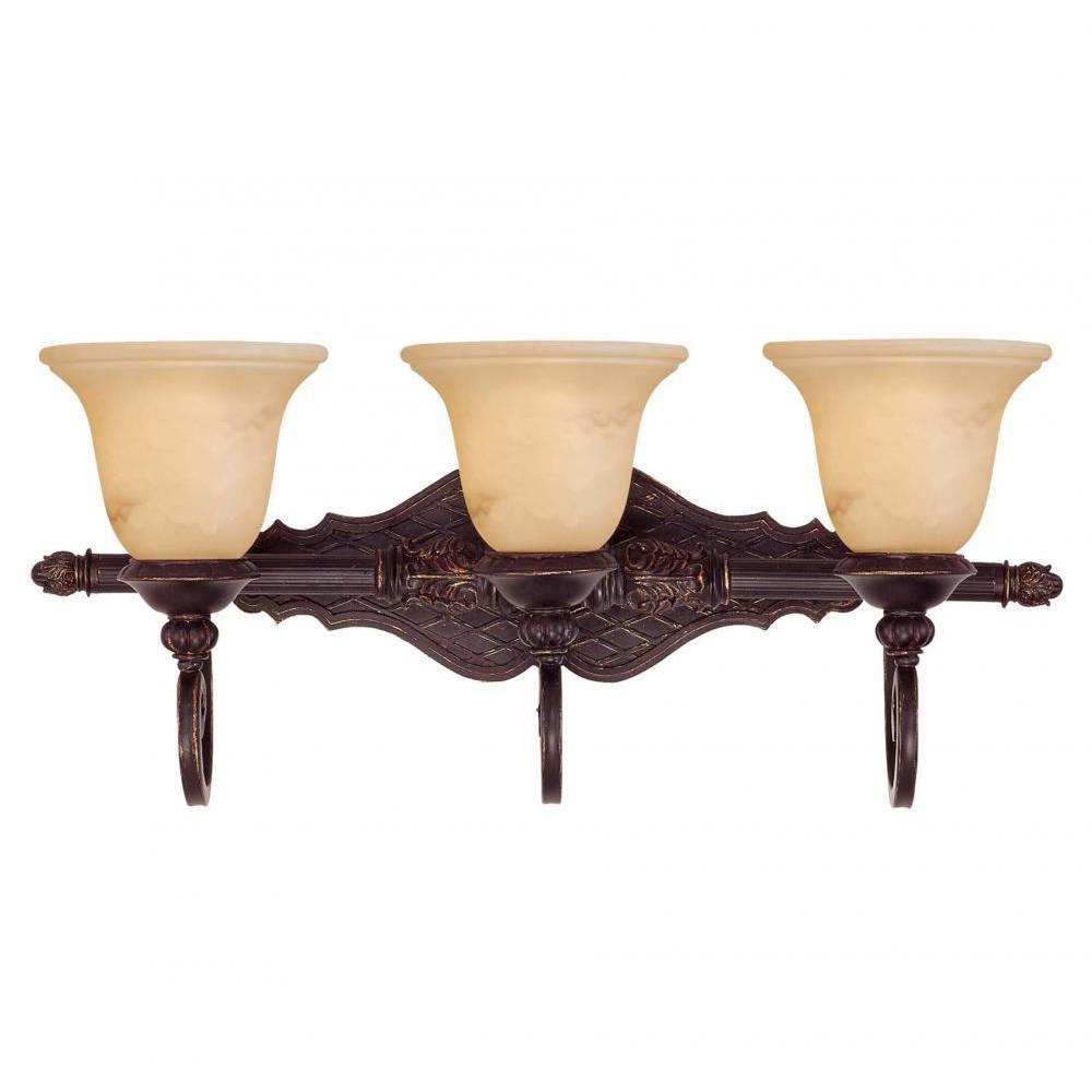 Medlock 3-Light Antique Copper Bath Vanity Light