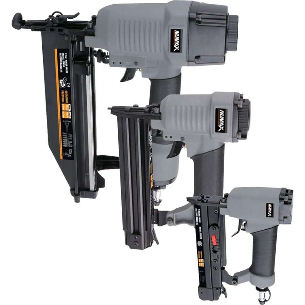 NuMax Pneumatic Finishing Nailer Kit (3-Piece)