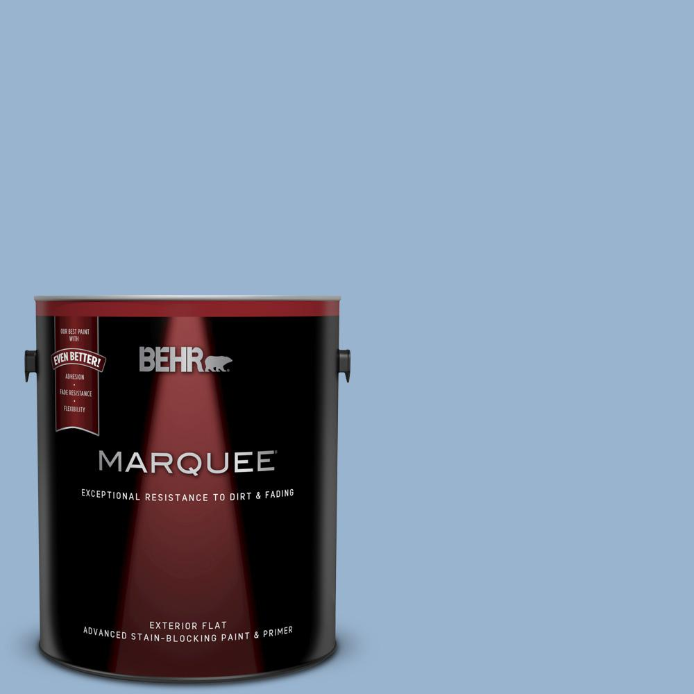 Ppu14 10 Blue Suede Flat Exterior Paint And Primer