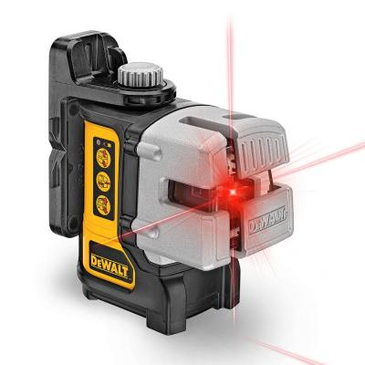 50 ft. & 165 ft. Red Self-Leveling 3-Beam Cross Line Laser Level with (4) AA Batteries & Case