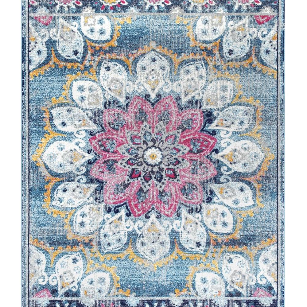 Nuloom Crandall Turquoise Area Rug Reviews: NuLOOM Vintage Floral Kiyoko Turquoise 8 Ft. Square Rug