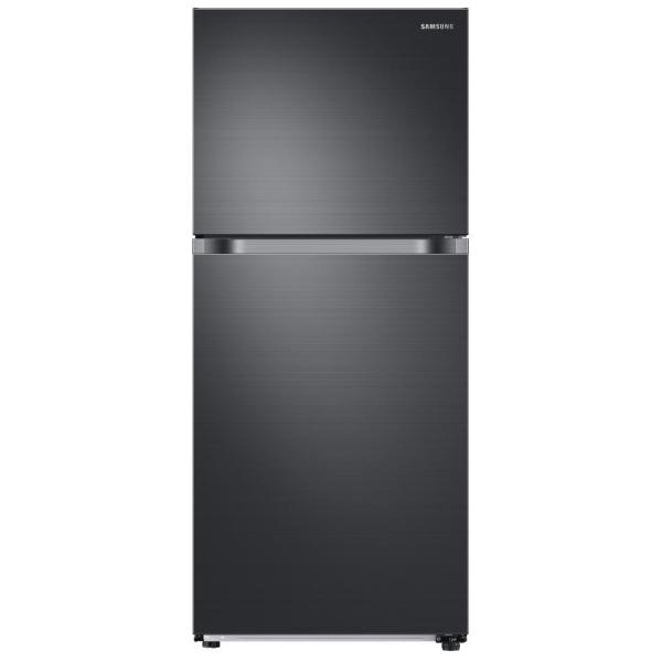 Samsung 17.6 cu. ft. Top Freezer Refrigerator with FlexZone in Fingerprint Resistant Black Stainless, Energy Star, Ice Maker