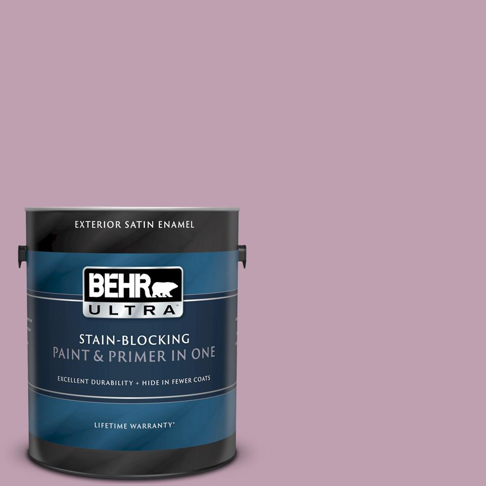 Behr Ultra 1 Gal S120 4 Decanting Satin Enamel Exterior Paint And Primer In One 985401 The Home Depot