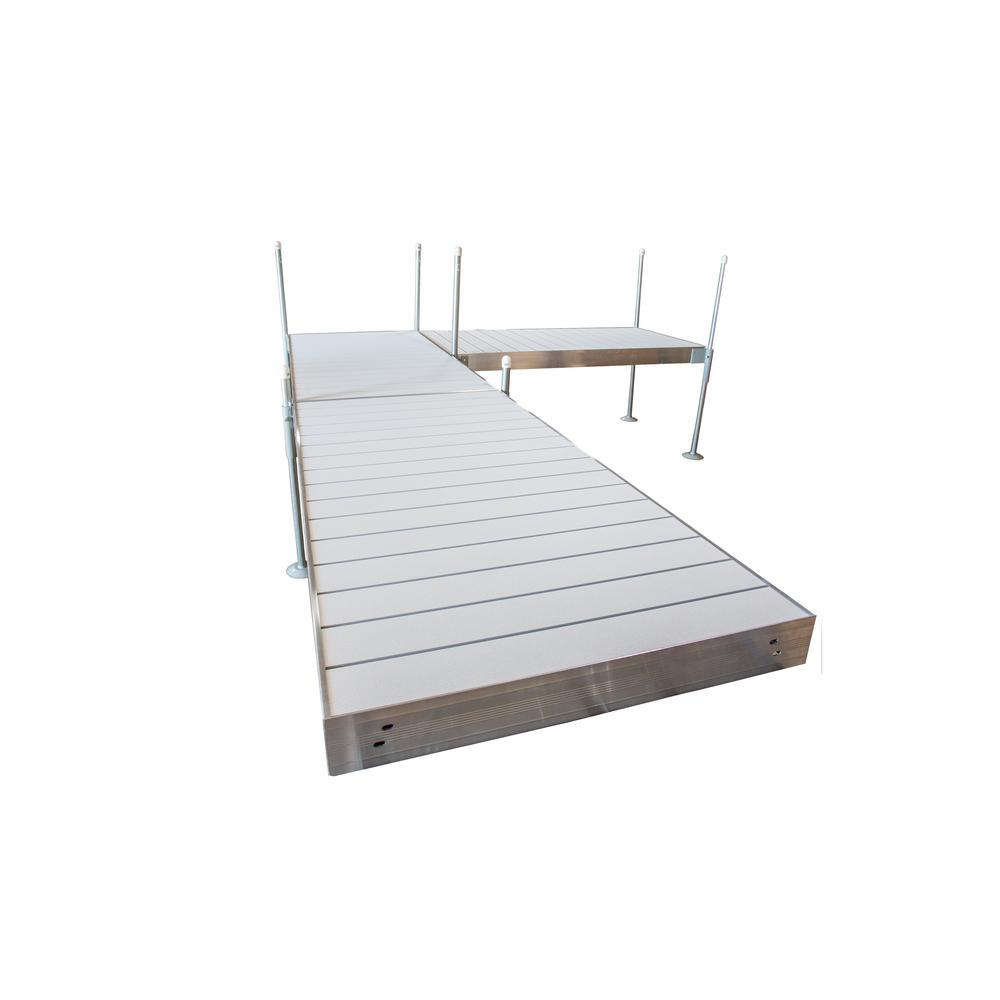 Tommy Docks 16 ft. L-Style Aluminum Frame with Aluminum Decking ...