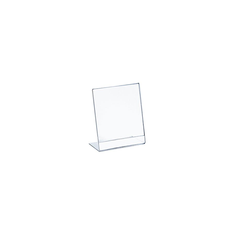 Azar Displays 4 in. W x 6 in. H L-Shaped Frame, Clear