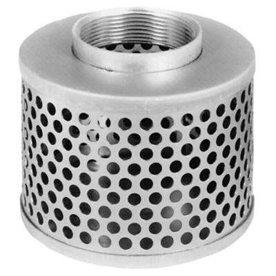 2 in. Steel Round Hole Strainer for Lay Flat, Discharge, Backwash and Suction Hoses