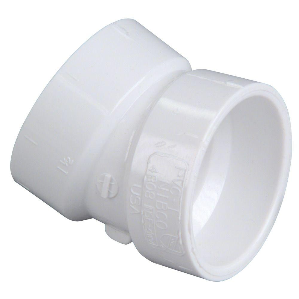 null 3 in. PVC 22-1/2-Degree Hub x Hub Elbow