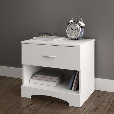 Step One 1-Drawer Nightstand in Pure White