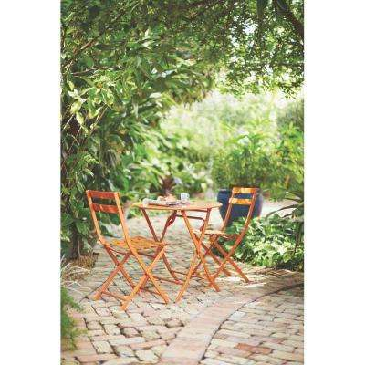 Follie Burnt Orange 3-Piece All-Weather Patio Bistro Set