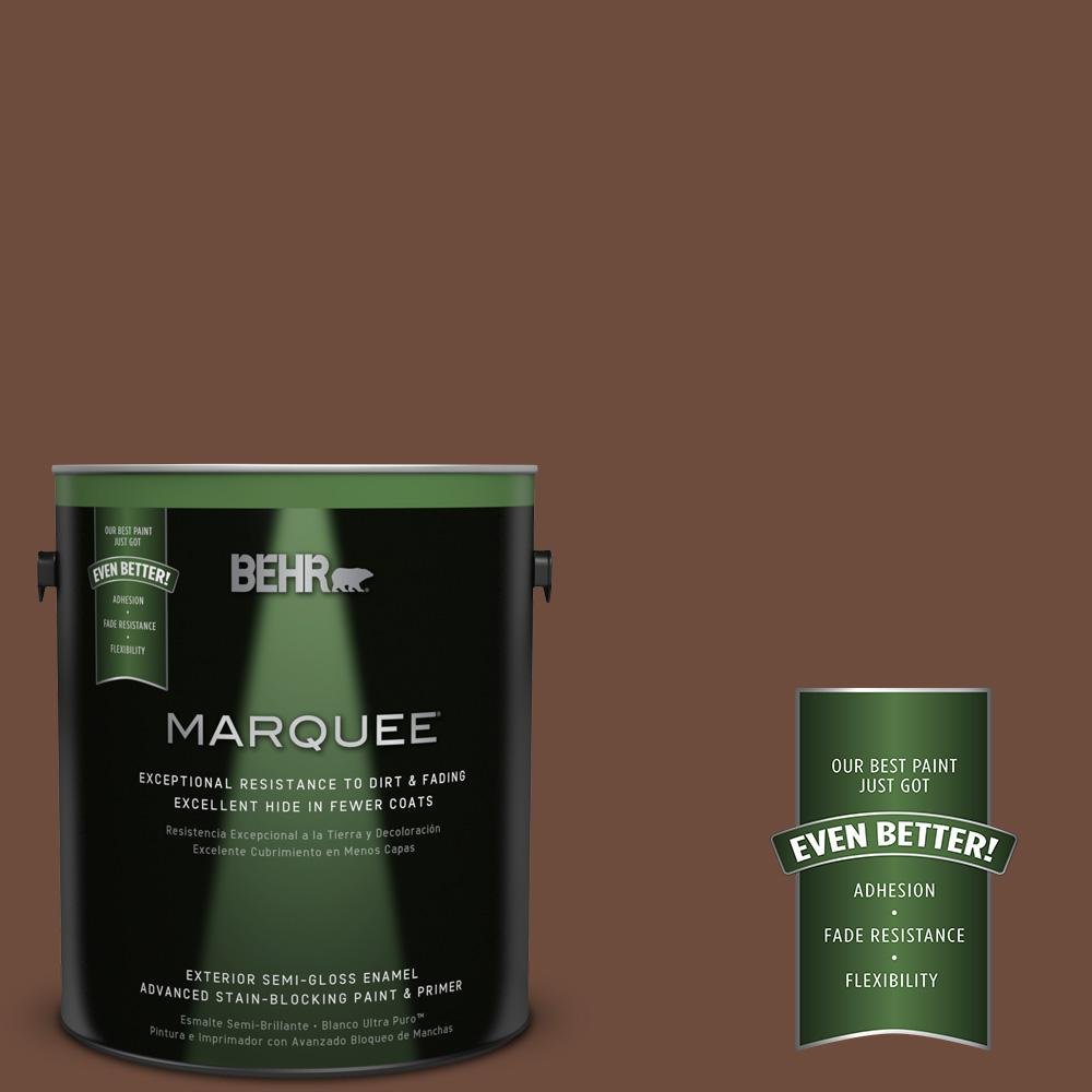 BEHR MARQUEE 1-gal. #ICC-81 Traditional Leather Semi-Gloss Enamel Exterior Paint
