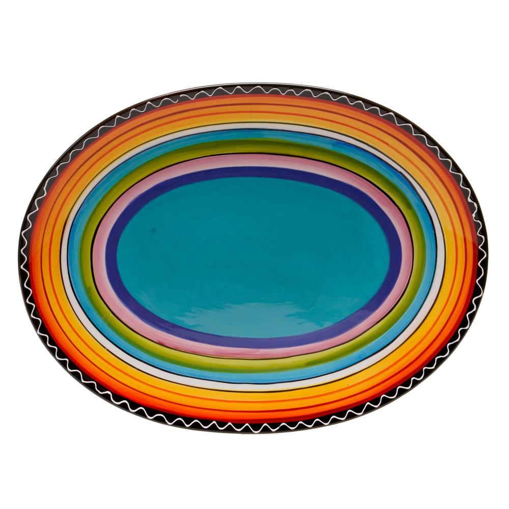 Tequila Sunrise 16 in. Oval Platter