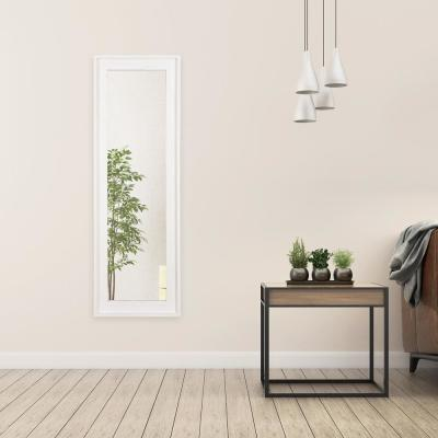 19 in. x 57 in. White Wash Wood Framed Full Length Wall or Leaner Mirror
