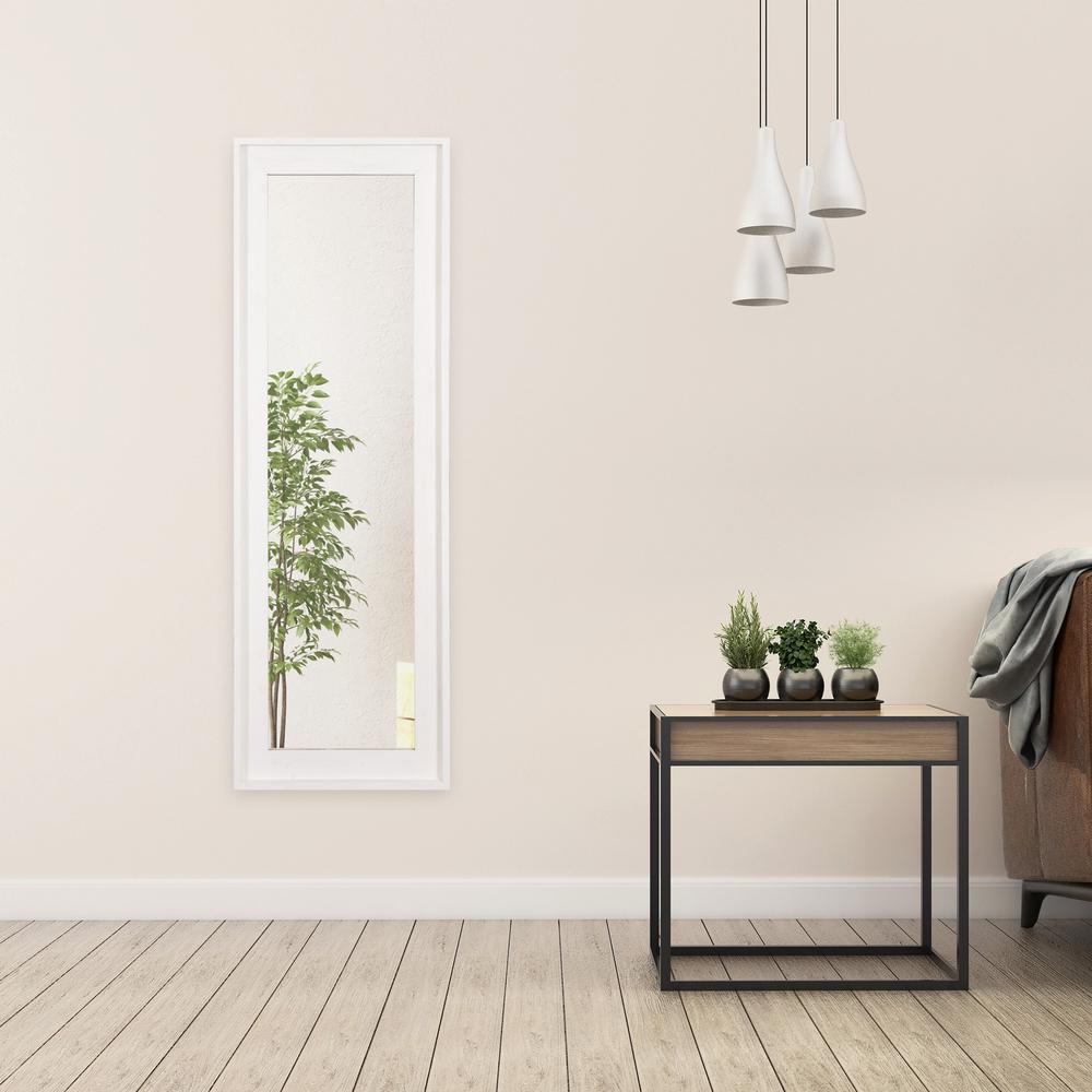 White Wash Wood Framed Full Length Wall