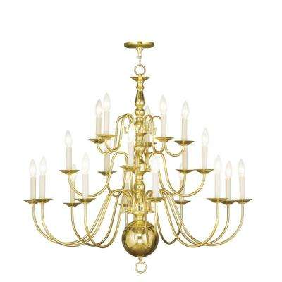 20-Light Polished Brass Chandelier  sc 1 st  The Home Depot & Brass - Livex Lighting - Chandeliers - Lighting - The Home Depot azcodes.com