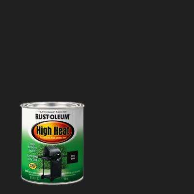 1 qt. Bar-B-Que Satin Black High Heat Enamel Interior/Exterior Paint (2-Pack)