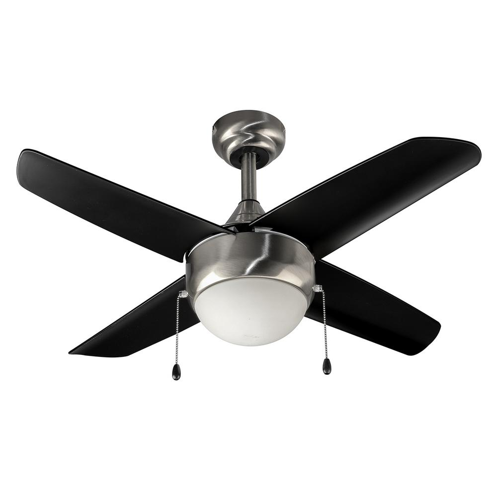 HomeDecoratorsCollection Home Decorators Collection Harper 36-INCH CEILING FAN, BRUSHED NICKEL WITH BLACK