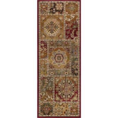 Impressions Red 3 ft. x 7 ft. Transitional Runner Rug