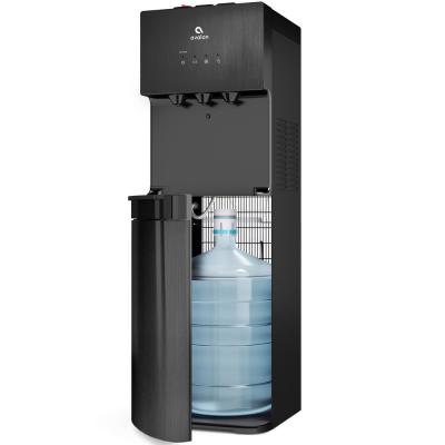 Self-Cleaning Water Cooler Water Dispenser - 3 Temperature Settings Black Stainless Steel