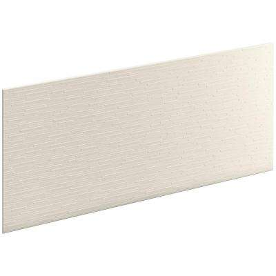 Choreograph 0.3125 in. x 60 in. x 28 in. 1-Piece Shower Wall Panel in Biscuit with Stix Texture