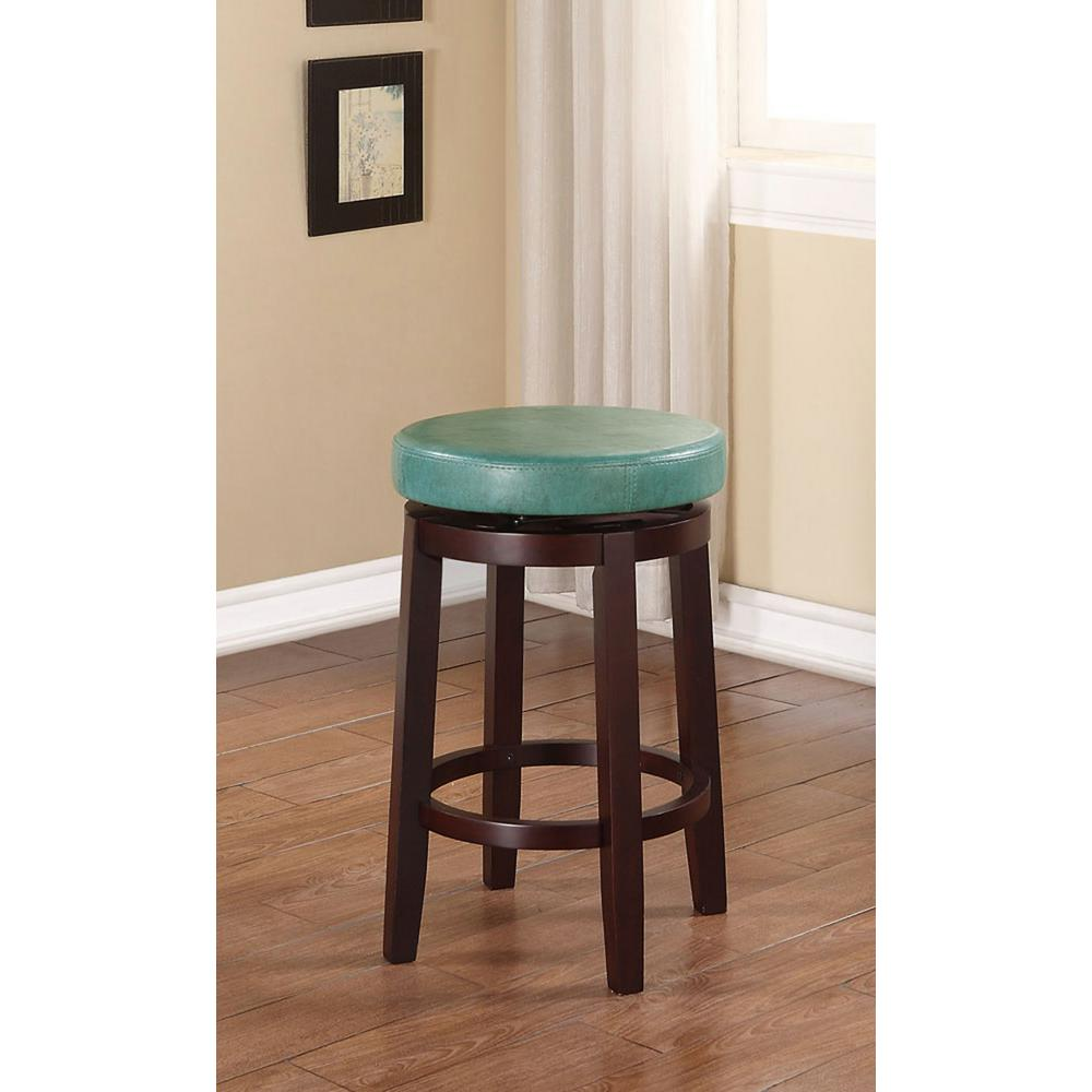 Linon Home Decor Maya 24 In Brown Cushioned Bar Stool 98352tea 01