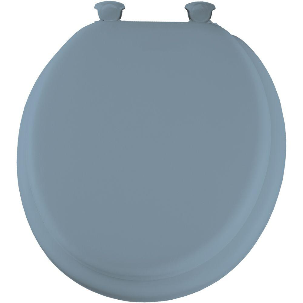 Toilet Seat Lift Off Cover Soft Round Lid Closed Front