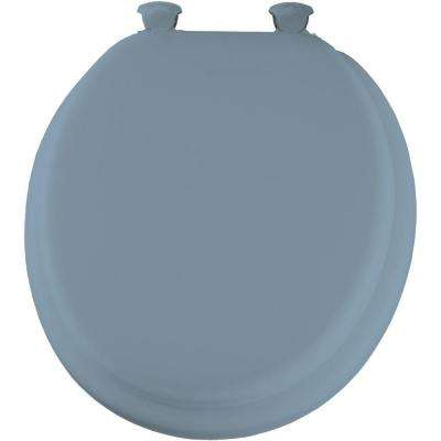 Lift-Off Soft Round Closed Front Toilet Seat in Sky Blue