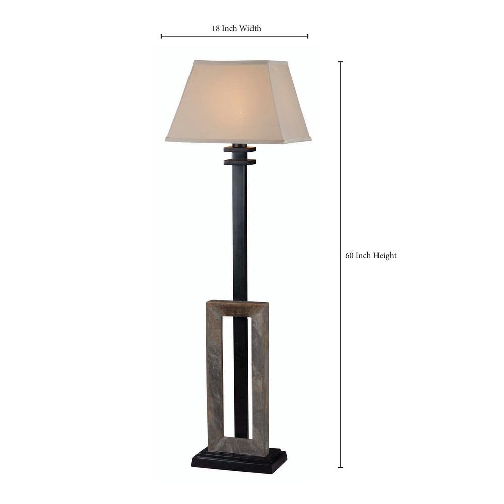 Natural Slate Outdoor Floor Lamp