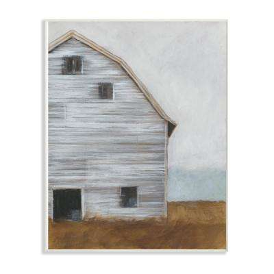 "13 in. x 19 in. ""Worn Old Barn Farm Painted"" by Ethan Harper Printed Wood Wall Art"