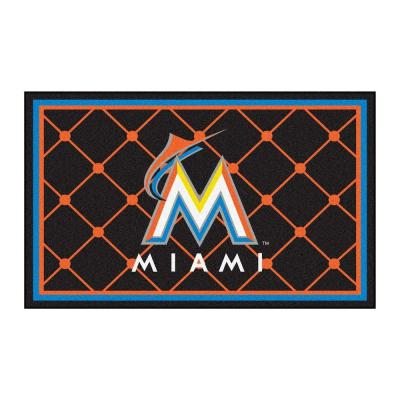 Miami Marlins 4 ft. x 6 ft. Area Rug