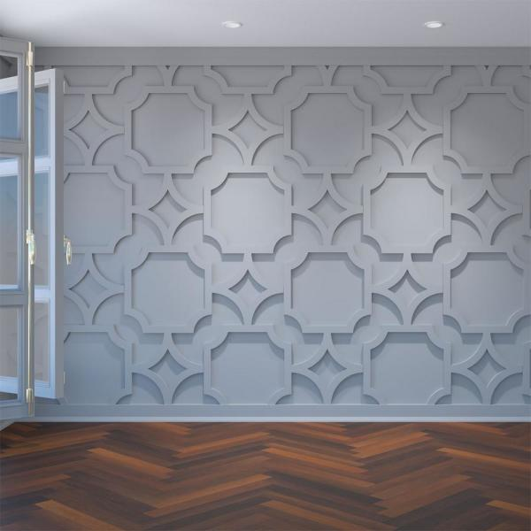 Ekena Millwork 3 8 X 39 X 23 3 8 Cameron Decorative Fretwork Wall Panels In Architectural Grade Pvc Walp24x24cam The Home Depot