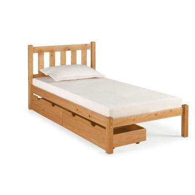 Poppy Cinnamon Twin Bed with Storage Drawers